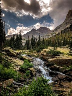 ITAP of Glacier Creek at Rocky Mountain National Park. - ITAP of Glacier Creek at Rocky Mountain National Park. … – ITAP of Gl - Mountain Photography, Landscape Photography, Nature Photography, Mountain Pictures, Pintura Country, Nature Aesthetic, Rocky Mountain National Park, Parcs, Mountain Landscape