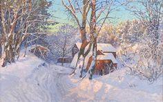 壁紙をダウンロードする アンゼルム塩, 山, anshelmシュルツ, スウェーデンの家, 冬景色, 冬のワンダーランド
