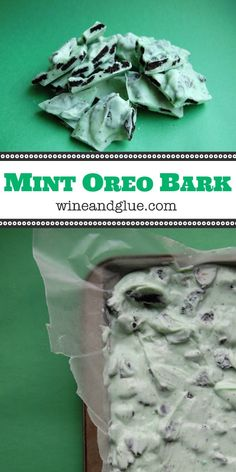 Mint Oreo Bark | www.wineandglue.com | A family favorite! So easy and so good!