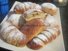 Fluffy oven-dumplings & croissants with apple-cinnamon filling