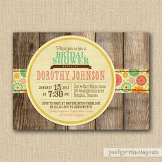 rustic wedding shower invitations | Rustic Bridal Shower Invitations -via Etsy. | Graphically Intriguing