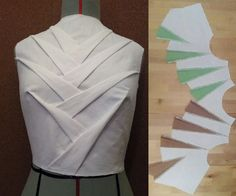 Origami petal bodice by Esther at Origami Master-Online Class by Shingo Sato