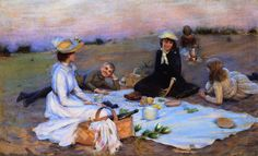 Charles Courtney Curran - Picnic Supper on the Sand Dunes