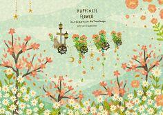 Happiness Flower. By Megumi Inoue. http://sorahana.ciao.jp/
