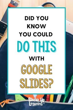 I talk about the wonders of Google Slides CONSTANTLY and frequently refer to it as the Swiss Army Knife of G Suite. It can do all kinds of things! In this post, I will show you 25 Things You Didn't Know Google Slides Could Do Teaching Tips, Learning Resources, Teacher Resources, Teaching Techniques, Teaching Technology, Educational Technology, Technology Lessons, Google Classroom, Classroom Ideas