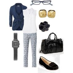 """Blue and black"" by jossiebristow on Polyvore"