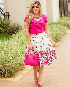 Church Outfits, Mom Outfits, Classy Outfits, Skirt Outfits, Dress Skirt, Cute Outfits, Curvy Fashion, Plus Size Fashion, Estilo Lady Like