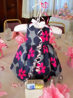 Baby shower dress centerpiece. So cute if it's another girl.