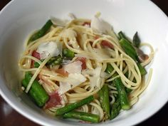 Linguini with Asparagus, Prosciutto, and Capers | Serious Eats