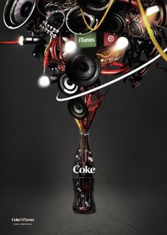 "music posters | Coca-cola: ""COKE MUSIC FOLDED A1 POSTER"" Print Ad by Akqa 