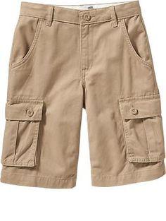 Boys Twill Cargo Shorts