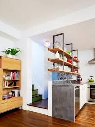Small kitchen design and ideas for your small house or apartment. stylish and efficient, Modern kitchen ideas - with island and storage organization Kitchen Bookshelf, Kitchen Storage, Shabby Chic Kitchen, Kitchen Decor, Kitchen Ideas, Kitchen Designs, Kitchen Living, Kitchen Layouts, Kitchen Updates