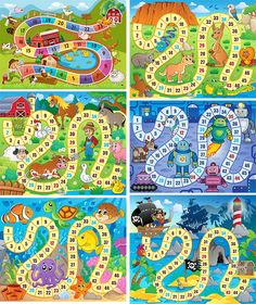 Fun Games For Kids, Chores For Kids, Maze Book, Printable Board Games, Crazy Hats, Alphabet Coloring, School Play, Folder Games, School Decorations