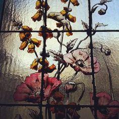 @janettesvn Instagram photos | Amazing #handpainted #stainedglass in the #stairwell of a building we visited this weekend #Paris #instaparis #Parisjetaime #IloveParis #igersparis