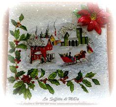 Piatto natalizio con stella di Natale