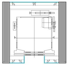 Bar counter detail drawing google search detale for Elevator plan drawing