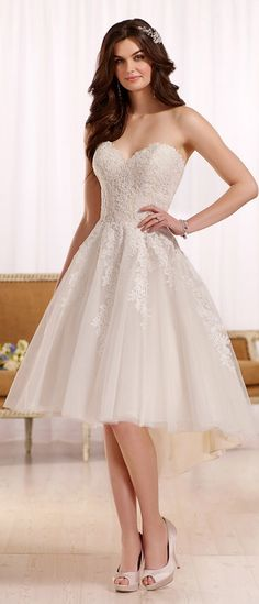 Glamorous Tulle Sweetheart Neckline Hi-lo A-line Wedding Dresses With Lace Appliques