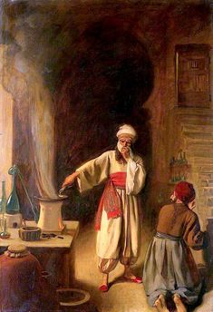 Rhazes, Persian Physician and Alchemist, in His Laboratory at Baghdad (also known as Rhazes, Arab Physician and Alchemist, in His Laboratory at Baghdad) Ernest Board - Date unknown