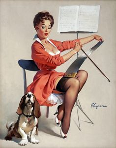 a pin up with a basset hound? perfect <3