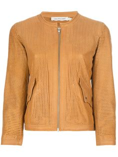 Jaqueta de couro amarelo Isabel Marant