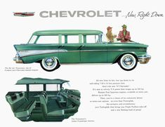 Vintage Cars General Motors for Chevrolet station wagon Station Wagon, Chevy Nomad, Car Brochure, Chevrolet Bel Air, Car Advertising, Us Cars, Retro Cars, Chevrolet Camaro, Vintage Ads