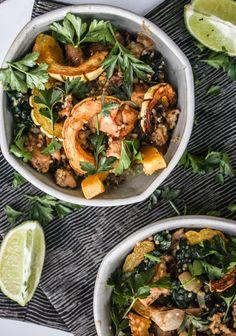 Chanterelle Mushroom & Kale Salad with Lime-Tahini Sauce