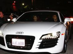Taylor Swift in Taylor Lautner's Audi R8
