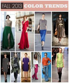 Top 2013 Color Trends for Fall & Winter