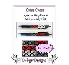 Bead Pattern Peyote(Pen Wrap/Cover)-Criss Cross