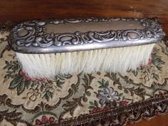 Victorian Sterling Clothes Brush_Sterling by GoldenBeeAntiques