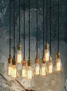 Thibault - Industrial Vintage Pendant Retro Chandelier Light - 10 Bulbs included