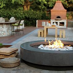 38 ideas for firepits | Sunset's own firepit | Sunset.com. Glass and gas