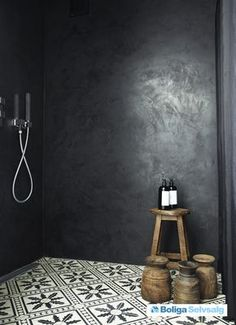As Tadelakt is water repellent there's absolutely no demand for tiling etc. Tadelakt is incredibly versatile and may be used in a lot of means. Tadelakt not on. Bad Inspiration, Bathroom Inspiration, Interior Inspiration, Bathroom Ideas, Small Bathroom, Bathroom Taps, Bathroom Black, Moroccan Tile Bathroom, Cement Bathroom