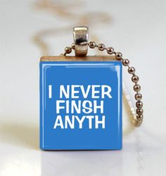 Scrabble Tile Pendant Funny Jewelry  I by MissingPiecesStudio, $6.95