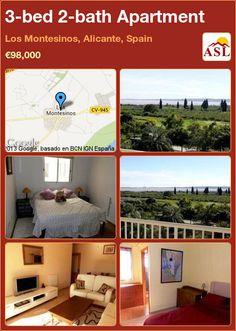 3-bed 2-bath Apartment in Los Montesinos, Alicante, Spain ►€98,000 #PropertyForSaleInSpain
