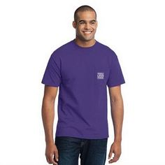 Port & Company (R) Short Sleeve Cotton/Poly Pocket T-Shirt