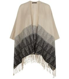 Slightly obsessed with the poncho look for AW14 - Cream Chevron Tassel Hem Blanket Cardigan - £24.99 from New Look