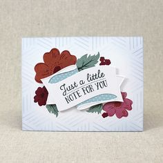 Just A Little Note Card by Lizzie Jones for Papertrey Ink (May 2016)