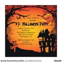 気味悪いお化け屋敷のハローウィンパーティの招待状 13.3 スクエアインビテーションカード