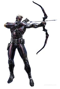 Jeremy Love posted more illustrations from the canceled Avengers project, including this Hawkeye.