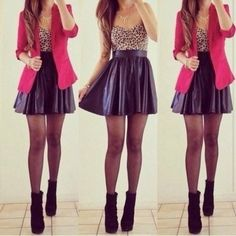 skirt clothes shoes leather jacket crop tops shirt