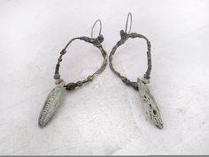 Artisan Earrings by greybirdstudio on Etsy