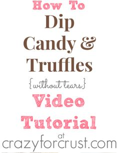 fb How To Dip Candy and Truffles Video Tutorial