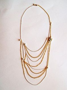 DIY Anthropologie Necklace - the Narcissus Net.