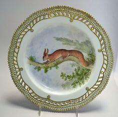 Royal-Copenhagen-Flora-Danica-Reticulated-Plate-Sciurus-Vulgaris-Squirrel