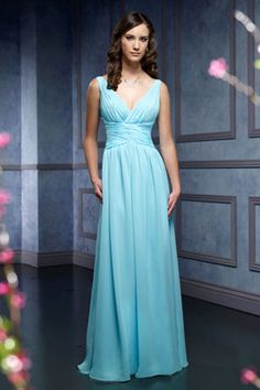 evening dresses evening dresses vintage evening dresses long 2015 sheath v-neck sleeveless ruching empire floor-length chiffon celebrity dresses Formal Dresses For Weddings, Formal Gowns, Wedding Bridesmaid Dresses, Bridesmaids, Bridesmaid Ideas, Pleated Bodice, Celebrity Dresses, Beautiful Gowns, Evening Dresses
