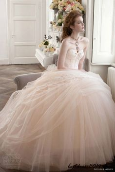 pink wedding dress pink wedding dresses. <-- don't normally like pink dresses , but this ones pretty