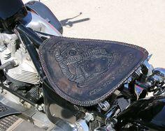 tooled leather motorcycle seat dale hancock upholstery west jordan ut 035