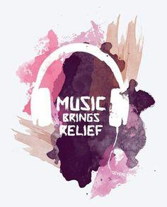 Music brings relief