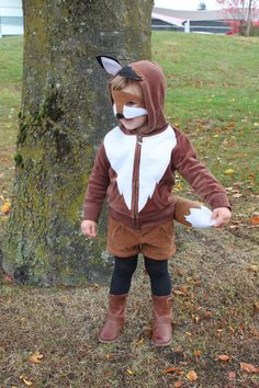 diy fox costume. @Whitney Clark Clark Clark Mineck/ could be a wolf too don't u think?